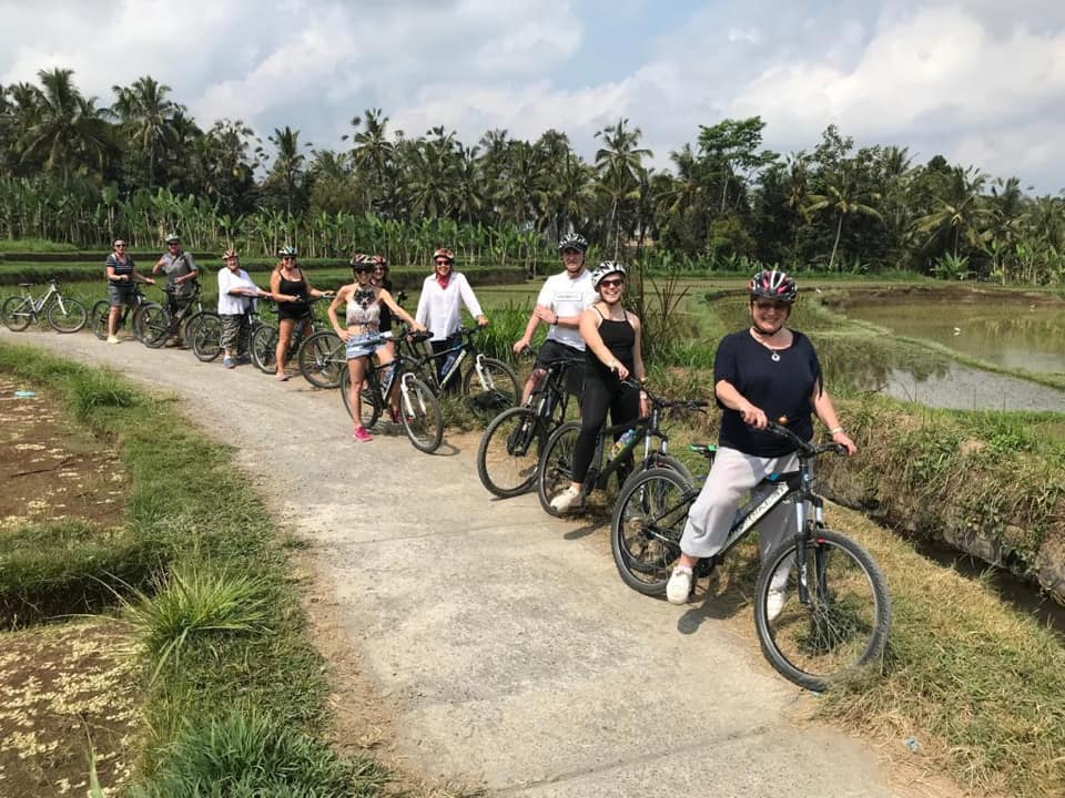 Bike riding in Bali - Bali yoga retreat Eastside Yoga and Pilates