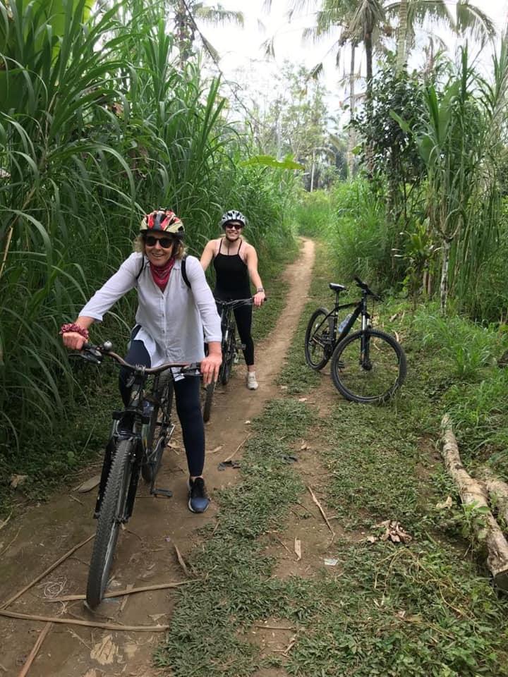 Bike riding in Bali - Bali yoga retreat with Eastside Yoga and Pilates
