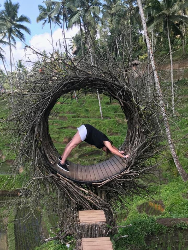 Yoga pose in nature - Bali yoga retreat Eastside Yoga and Pilates