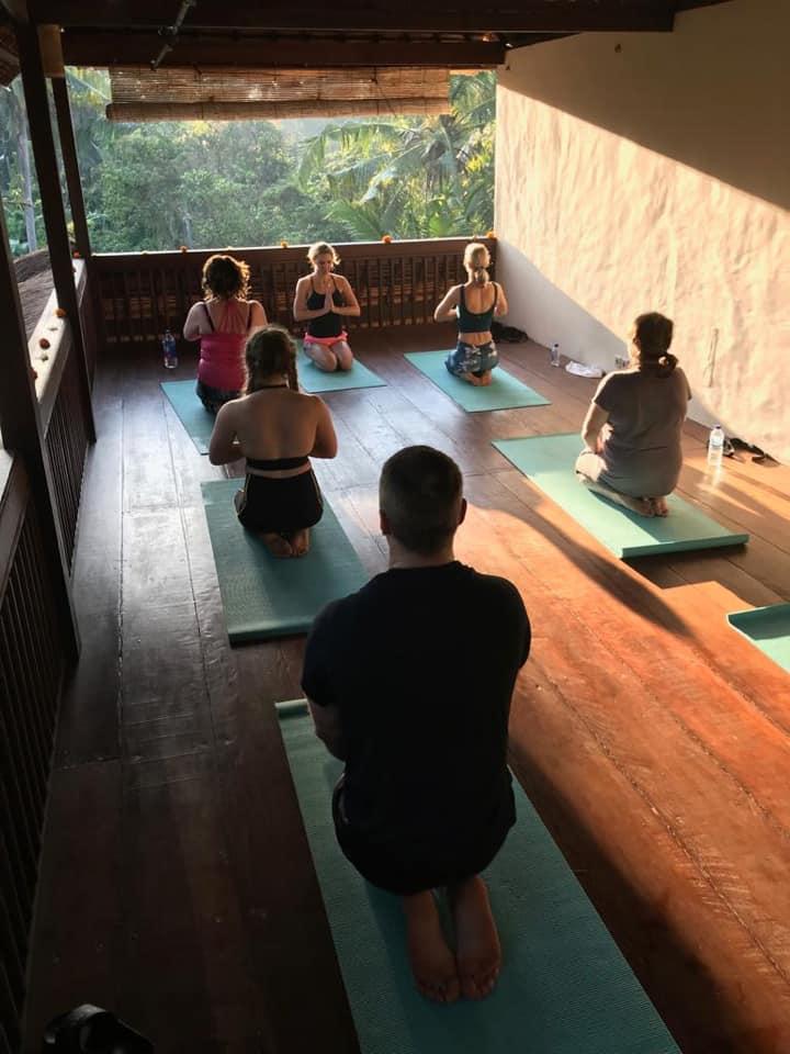 Yoga class in yoga shala - Bali yoga retreat with Eastside Yoga and Pilates