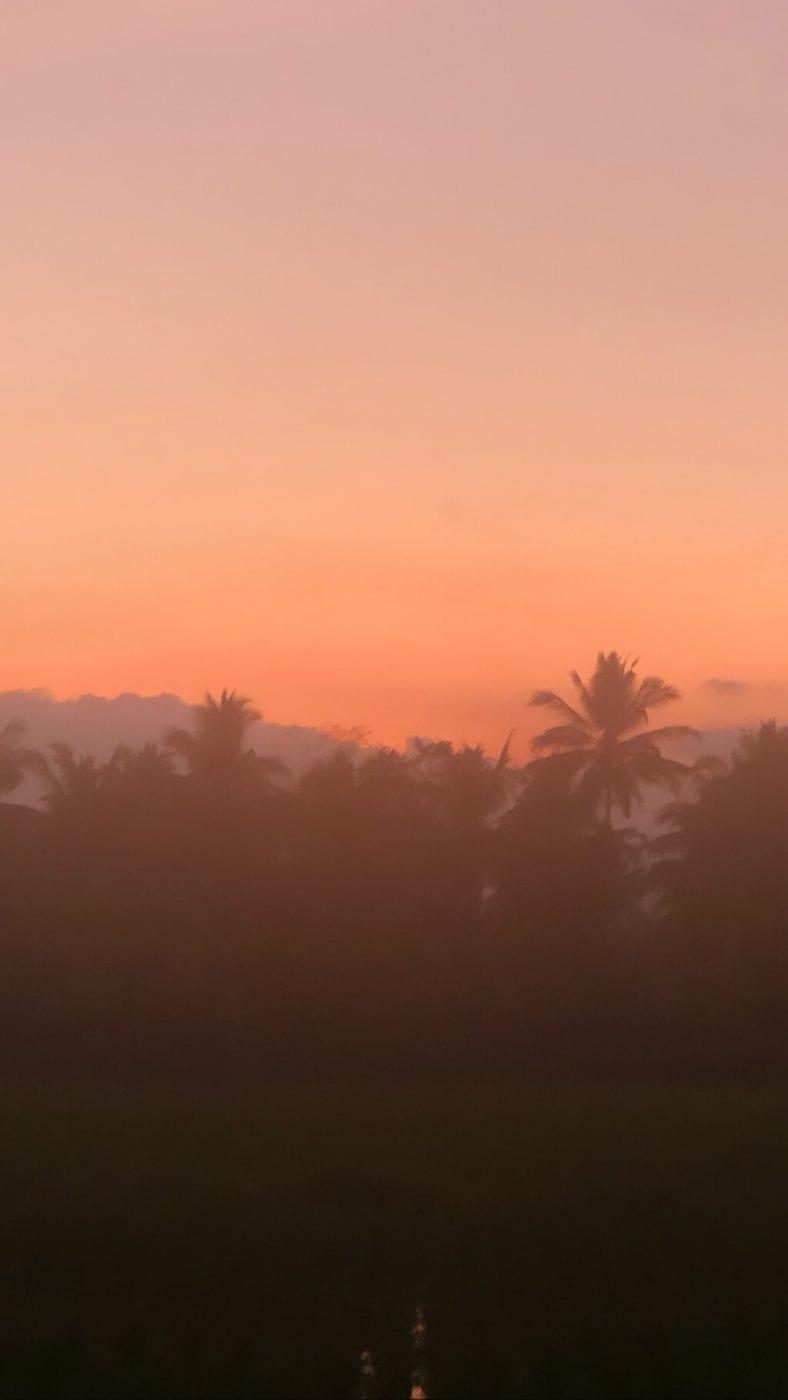 Gorgeous Bali sunset - Bali yoga retreat with Eastside Yoga and Pilates