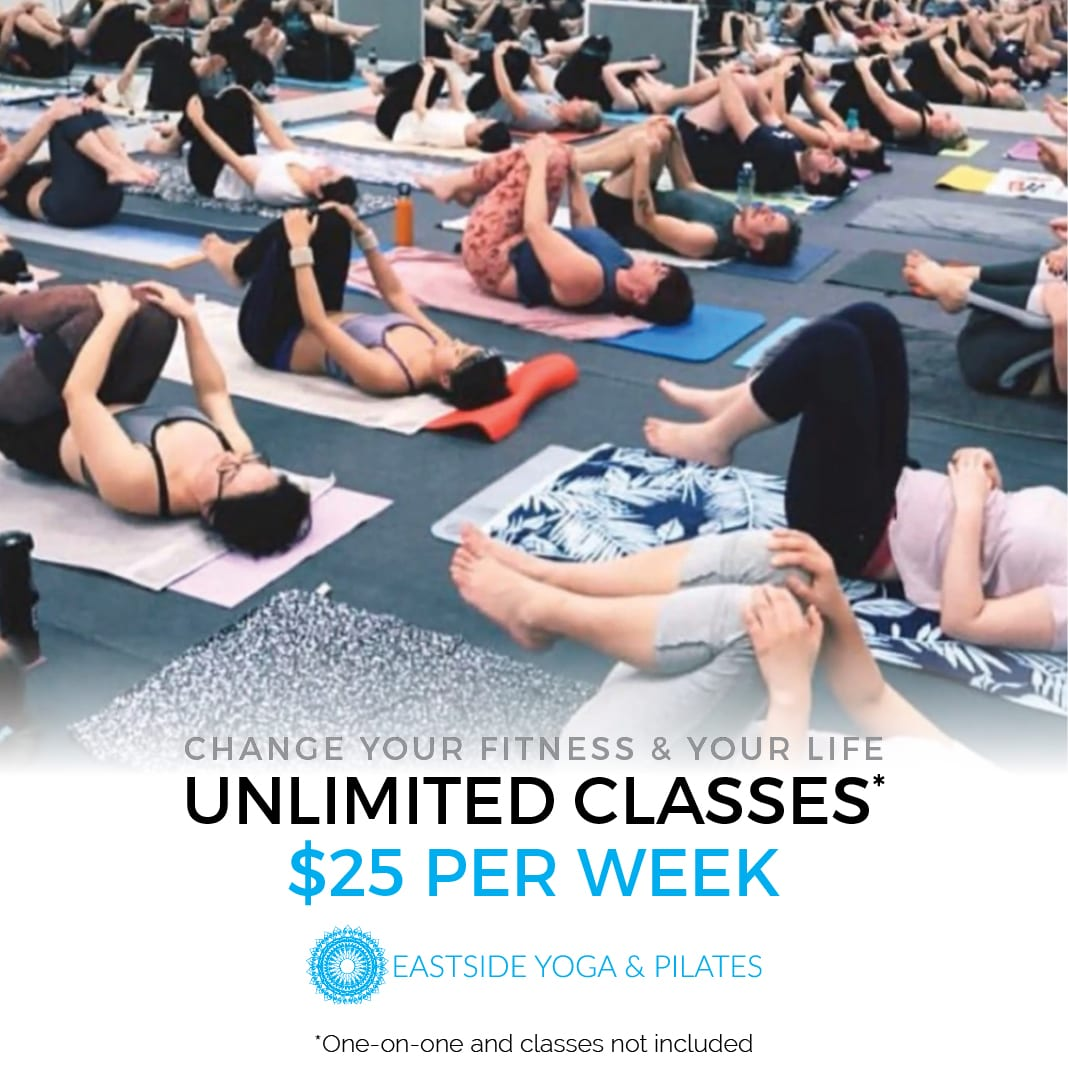 Unlimited* yoga and pilates classes Adelaide $25 per week (*One-on-one classes not included)
